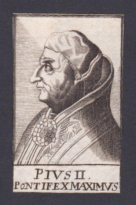 17. Jh. Pius II. / pope Papst Corsignano Italien Italy Portrait Kupferstich