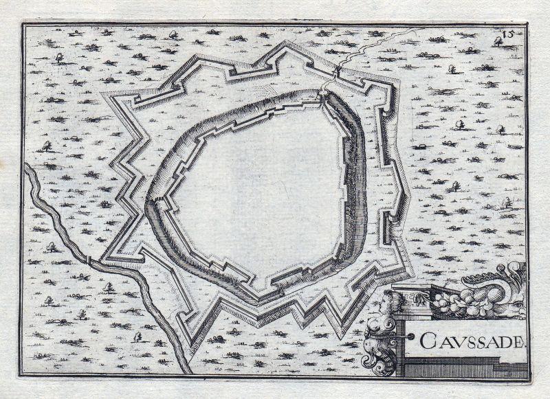 1630 Caussade Tarn-et-Garonne Okzitanien Montauban France gravure estampe 146394