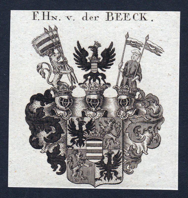Beeck Wegberg Nordrhein-Westfalen Wappen Adel coat of arms Kupferstich en 142656