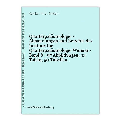 Quartärpaläontologie - Abhandlungen und Berichte des Instituts für Quartärpaläon 0