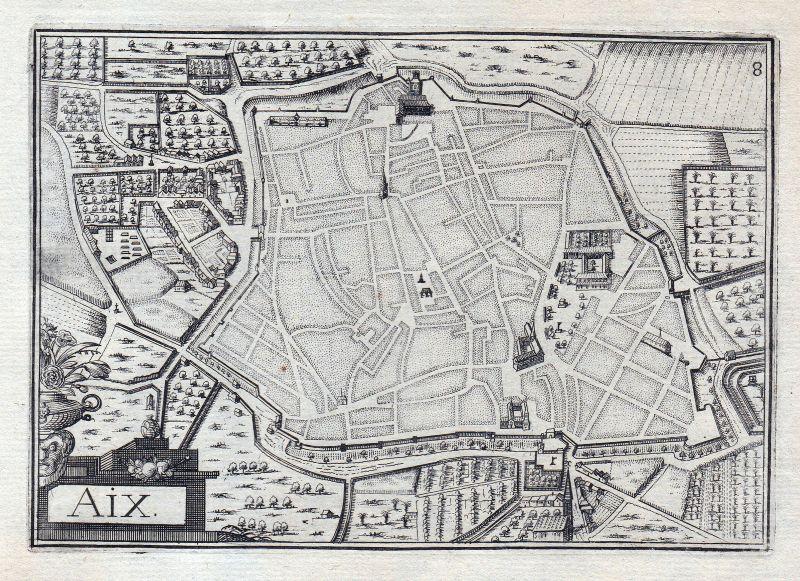 1630 d'Aix Nouvelle-Aquitaine Charente-Maritime France gravure estampe Tassin 0