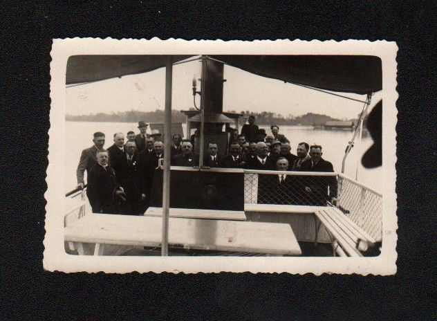 1934 Chiemsee Dampfboot Schiff Dampfschiff Original Foto photo vintage 0