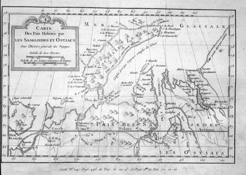 Nowaja Semlja Zemlya Novaya Russia Russland map Karte Kupferstich Bellin 0
