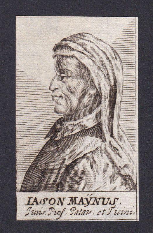 17. Jh. - Giasone del Maino / jurist Ticino Portrait Kupferstich