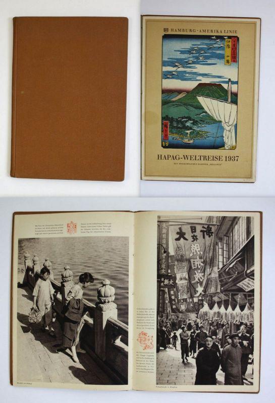 Hapag-Weltreise 1937 Hamburg Amerika Seefahrt Marine Reklame Werbung Reise 0