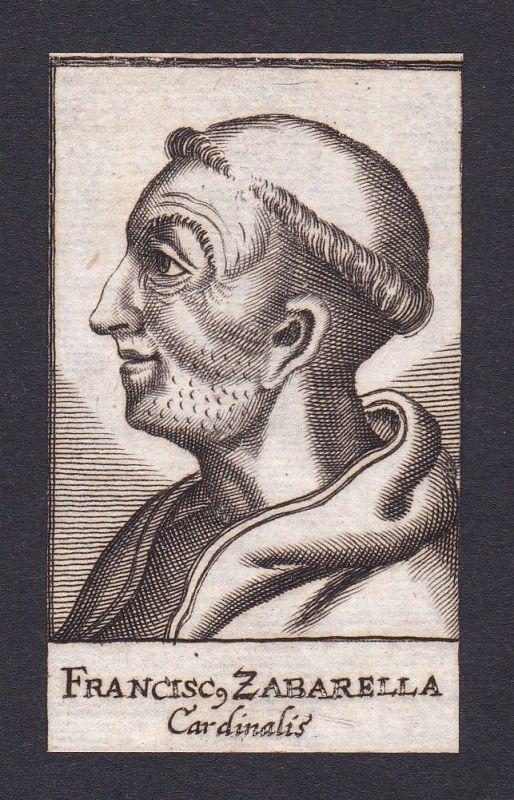 17 Jh Francesco Zabarella Kardinal cardinal Florenz Italien Portrait Kupferstich