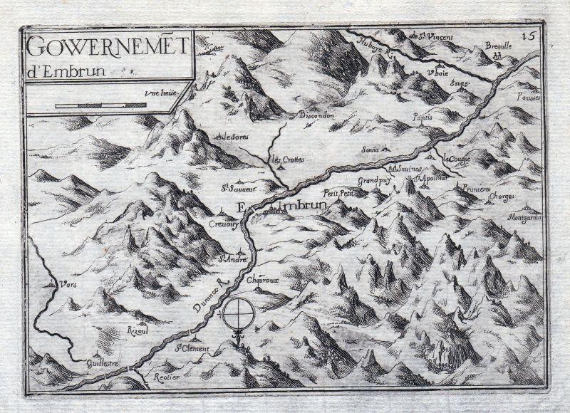 Embrun Provence-Alpes-Côte d'Azur Hautes-Alpes France gravure estampe Tas 146331
