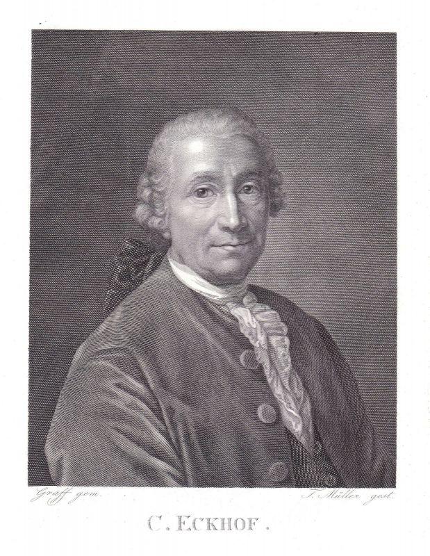 1820 Conrad Ekhof Schauspieler Gotha Theater Portrait Kupferstich Müller Graff