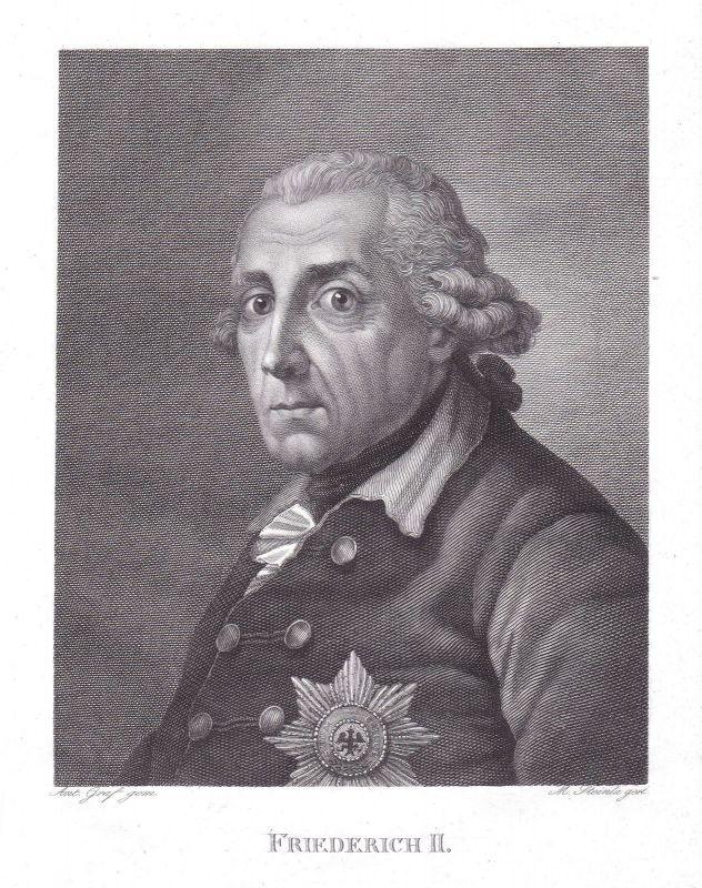 Friedrich II Frederick the Great Berlin König Preußen Portrait Steinla Graff