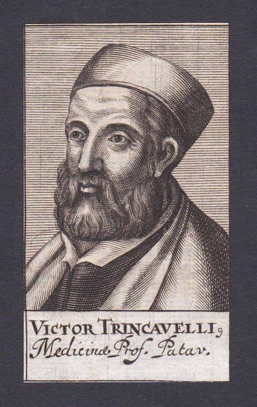 17. Jh. Vittore Trincavelli / doctor Arzt Mediziner Padua Portrait Kupferstich