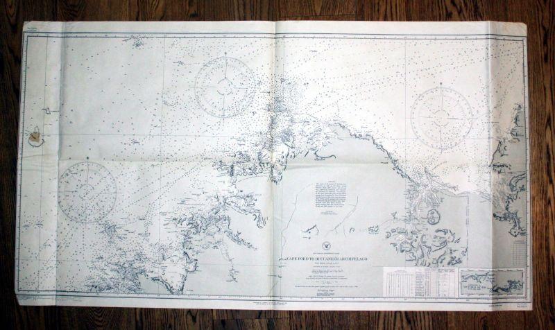 1923 Australia Northwest coast cape ford to Buccaneer Archipelago sea chart map