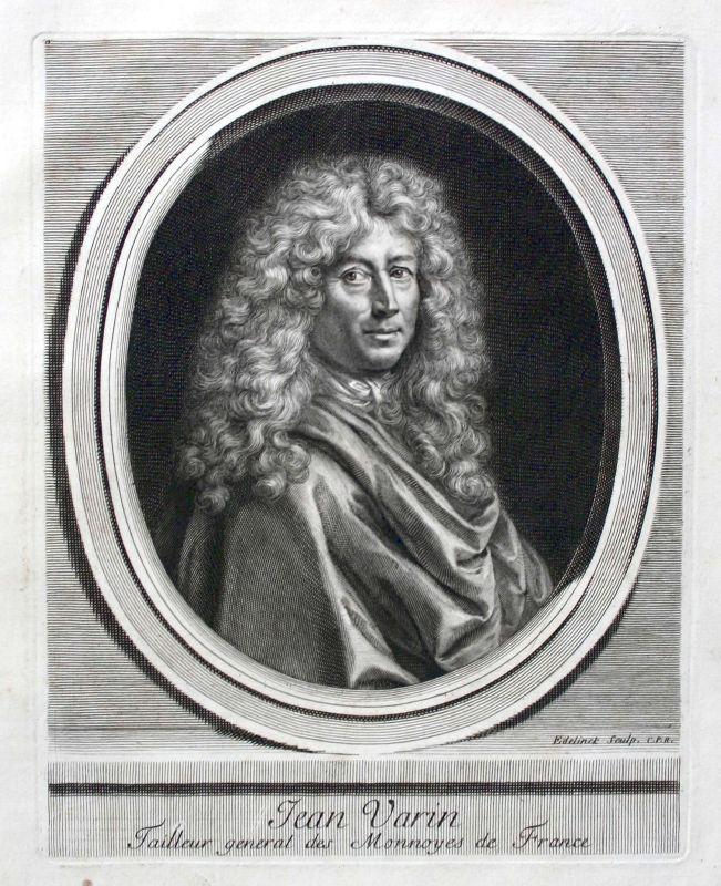 Jean Varin Warin sculpteur Bildhauer graveur Zeichner Portrait gravure ca. 1700