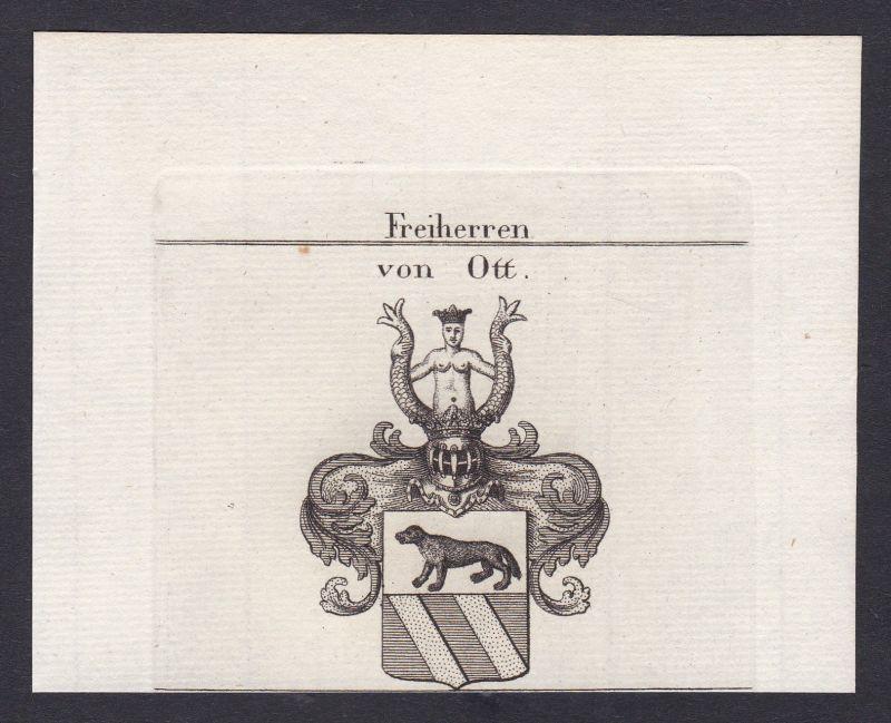 1820 Ott Wappen Adel coat of arms heraldry Heraldik Kupferstich antique p 162942 0