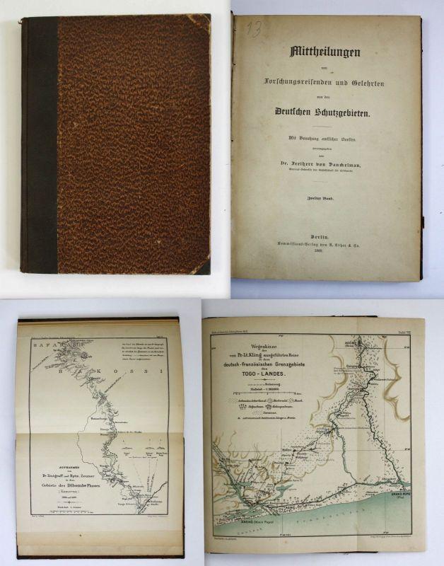 Danckelmann Mittheilungen v. Forschungsreisenden Gelehrten 1889 Kolonien Afrika