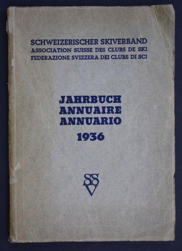 1936 Jahrbuch Schweiz  Skiverband Skifahren 0