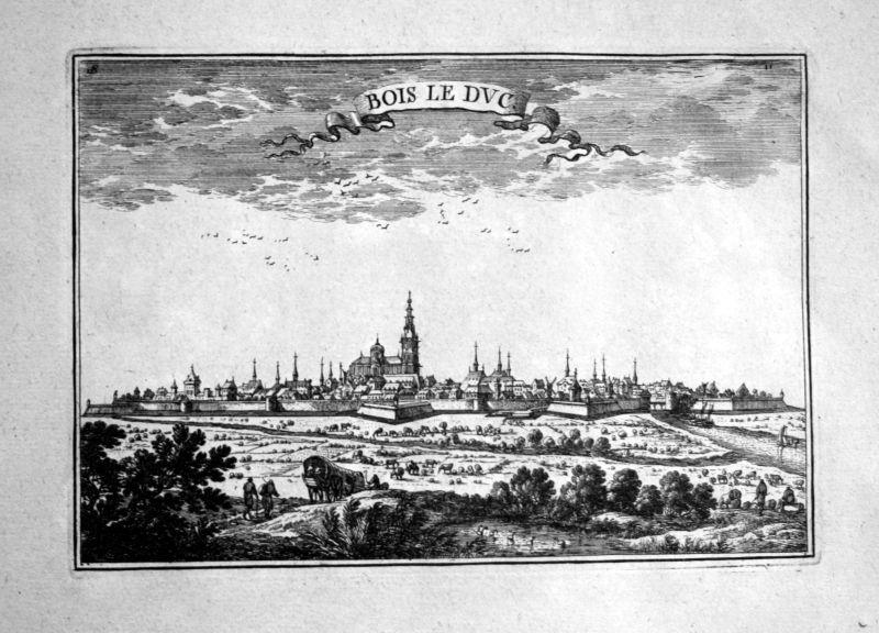 1680 's-Hertogenbosch Den Bosch estampe gravure Kupferstich Beaulieu engraving 0
