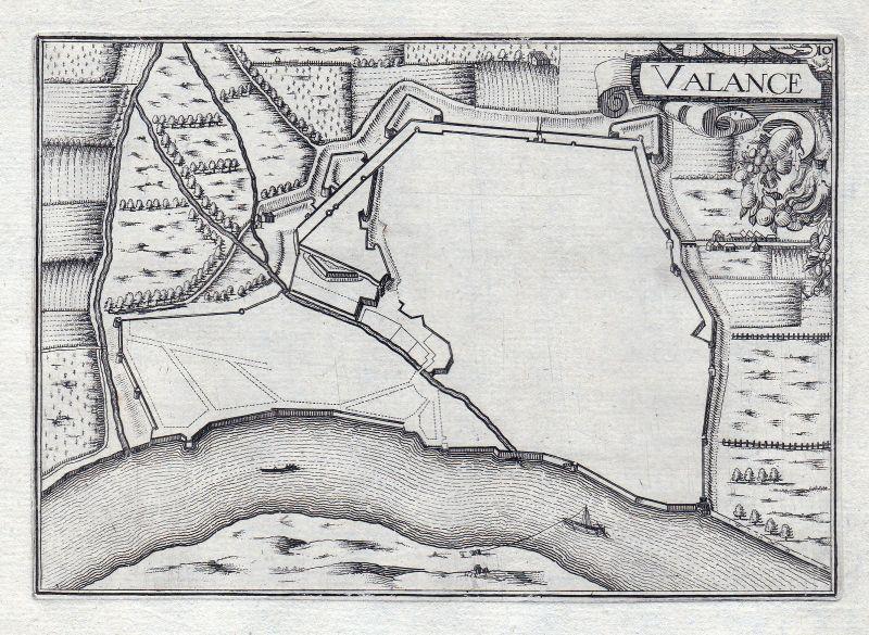1630 Valence Drome Rhone France gravure estampe Kupferstich Tassin