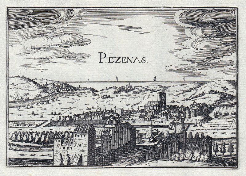 1630 Languedoc-Roussillon Herault France gravure estampe Kupferstich Tassin