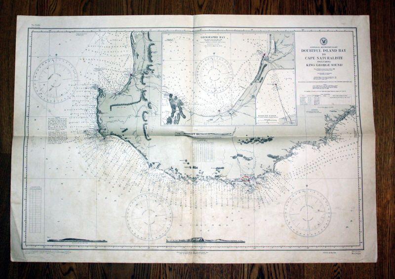 1925 Australia southwest coast Doubtful island bay to cape naturaliste including 0