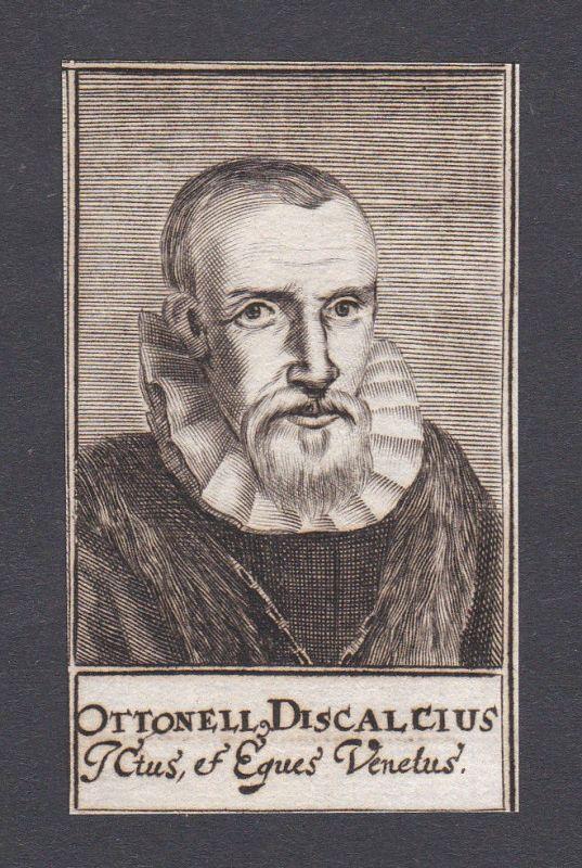 17. Jh. - Ottonelli Discaltio / lawyer Venezia Portrait Kupferstich