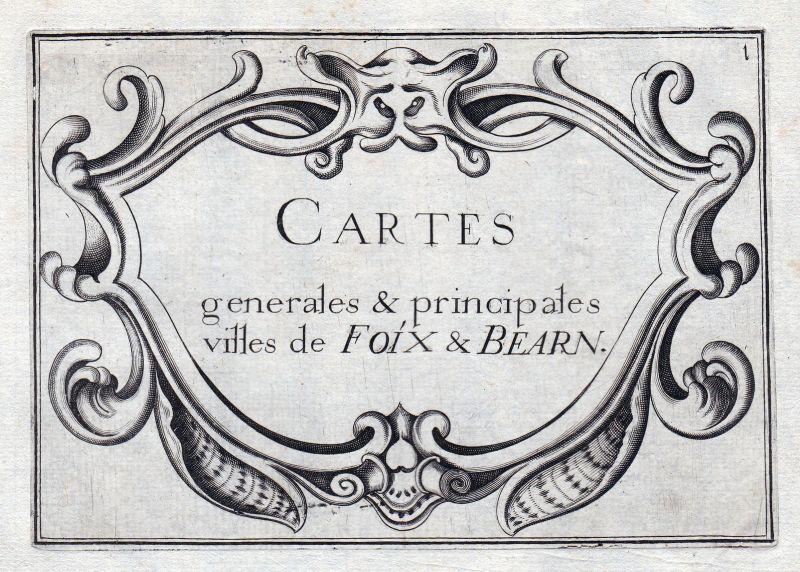 1630 Foix Bearn titel Ornament France gravure estampe Kupferstich Tassin 0