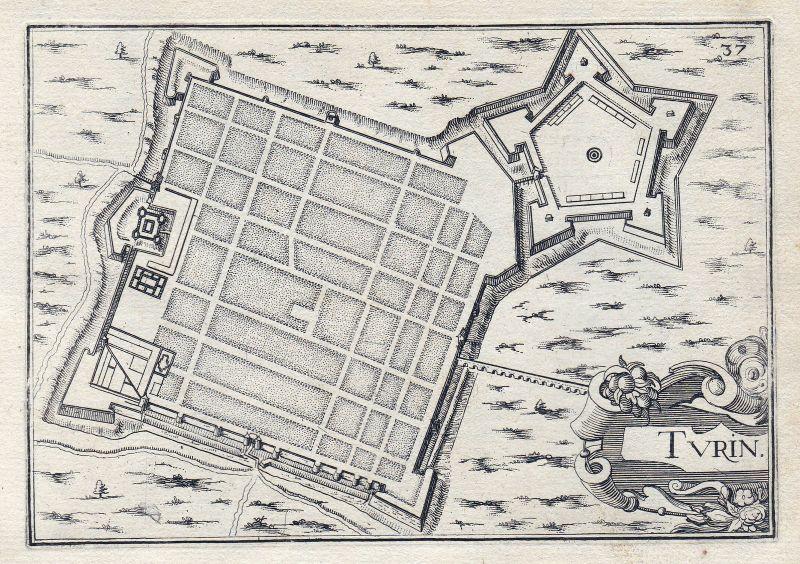 1630 Torino Turin Italia gravure estampe Kupferstich Tassin