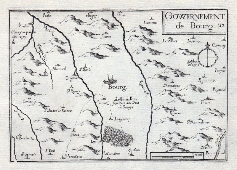 1630 Bourg Auvergne-Rhône-Alpes Ain France gravure estampe Kupferstich Tassin