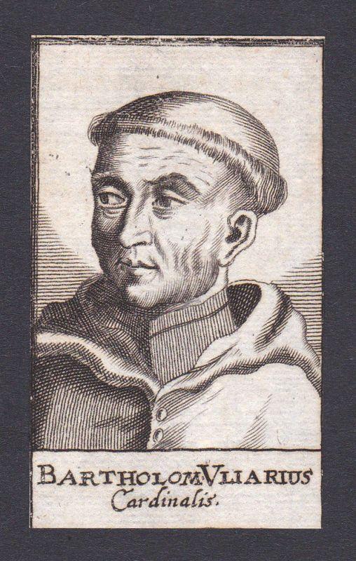 17 Jh Bartholoaeus Vliarius cardinal Kardinal Italien Italy Portrait Kupferstich