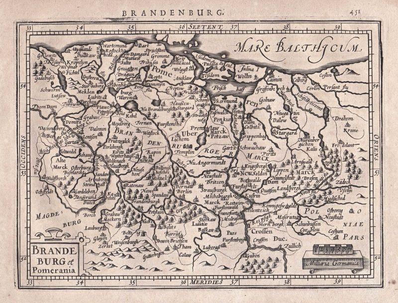 Brandenburg Deutschland Germany Polen Polska Poland map Karte Gerard Mercator