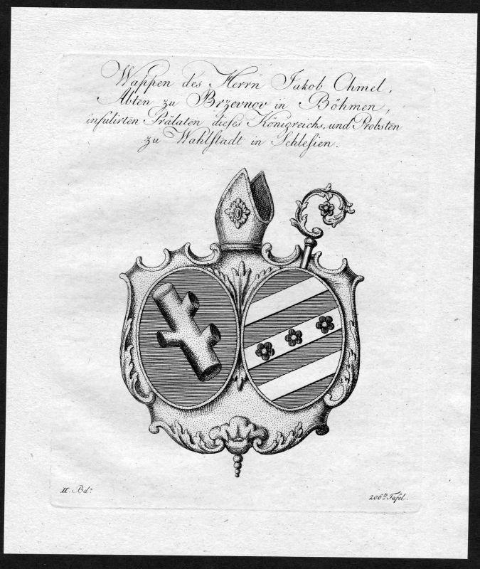 1790 Böhmen Bohemia Wahlstatt Brevnov Wappen Adel coat of arms heraldry Heraldik