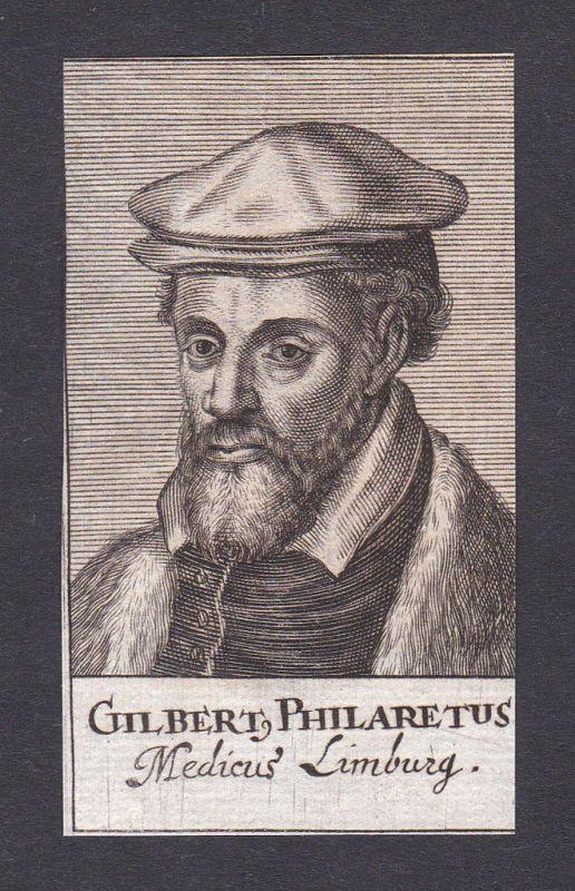Gilbert Fuchs Philaretus doctor Arzt Mediziner Limburg Portrait Kupferstich