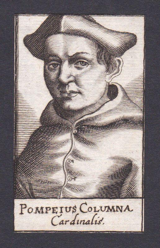 17. Jh. Pompeius Columna / cardinal Kardinal Italien Italy Portrait Kupferstich