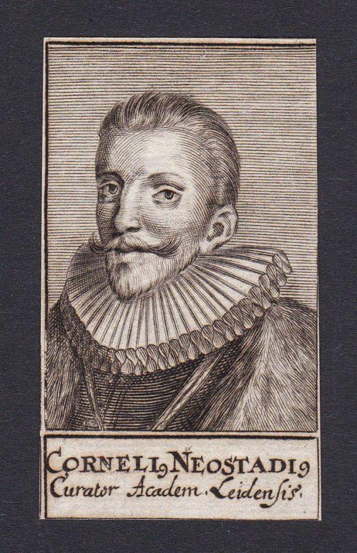 17. Jh. - Cornelius Neostadius / lawyer Leiden Portrait Kupferstich 0
