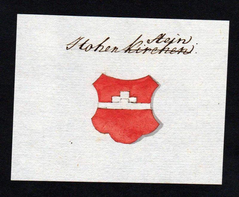 18. Jh. Hohenstein Handschrift Manuskript Wappen manuscript coat of arms 0