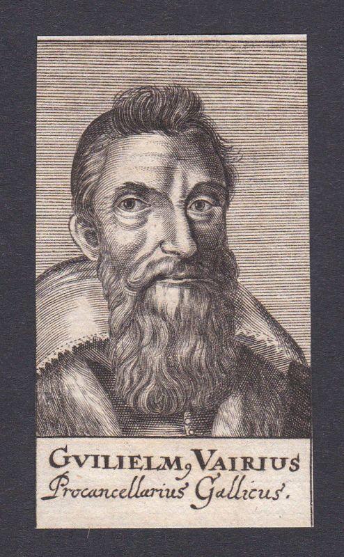 17. Jh. Wilhelm Vairius lawyer Jurist Gallien Italien Italy Portrait Kupferstich 0
