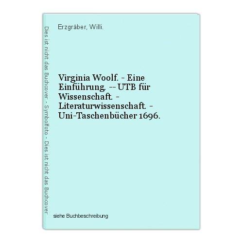 Virginia Woolf. - Eine Einführung. -- UTB für Wissenschaft. - Literaturwissensch