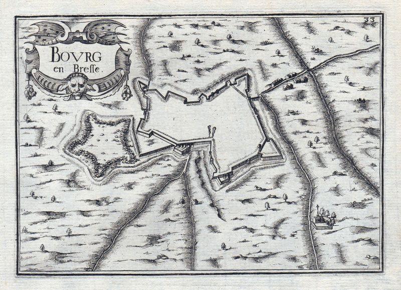 1630 Bourg en Bresse Auvergne-Rhône-Alpes Ain France gravure estampe Tassin