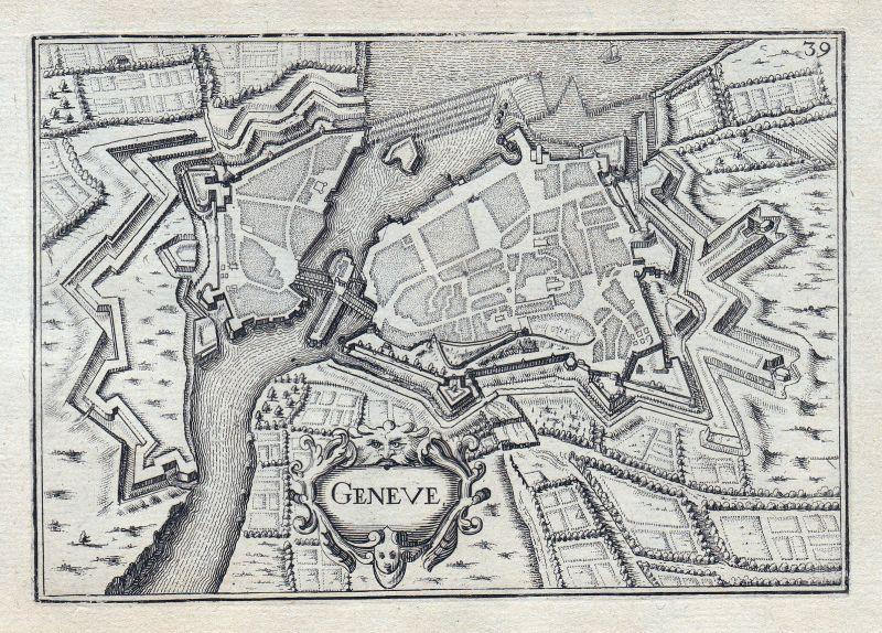 1630 Geneve Genf Schweiz gravure estampe Kupferstich Tassin 146355
