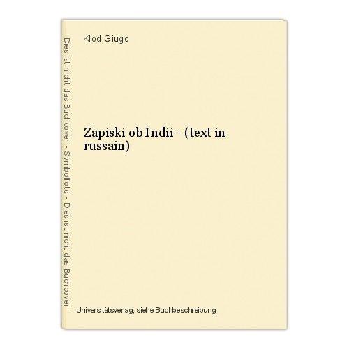 Zapiski ob Indii - (text in russain) Klod Giugo 0