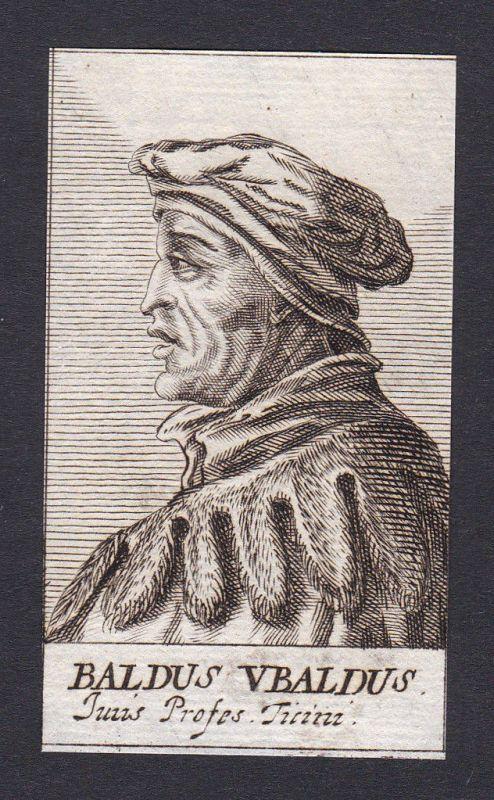 17. Jh. - Baldus de Ubaldis / jurist Ticino Portrait Kupferstich 0