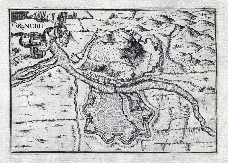 Grenoble Auvergne-Rhône-Alpes Isere France gravure estampe Kupferstich Tassin