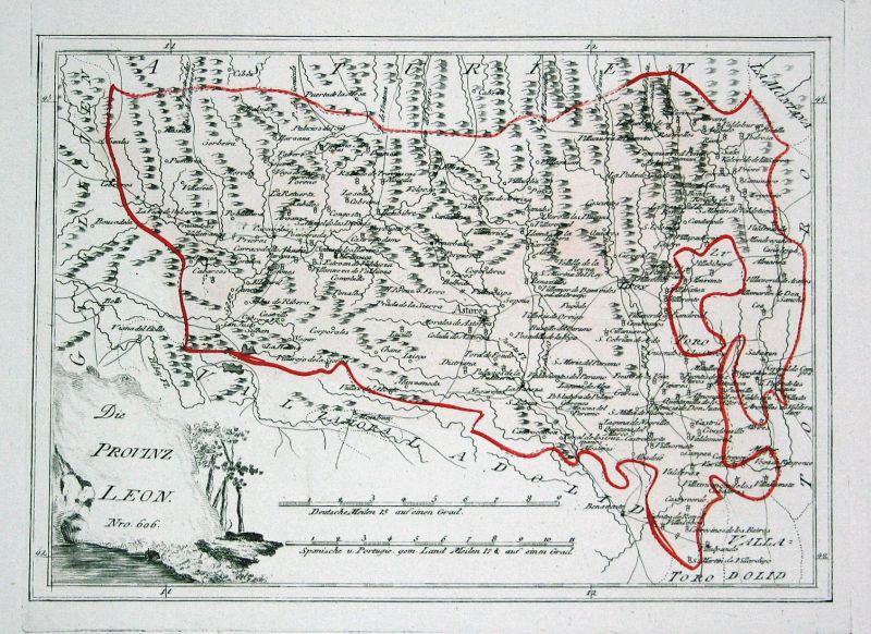 Spanien Spain Portugal Astorga Leon Toro map Karte Reilly engraving Kupferstich 0