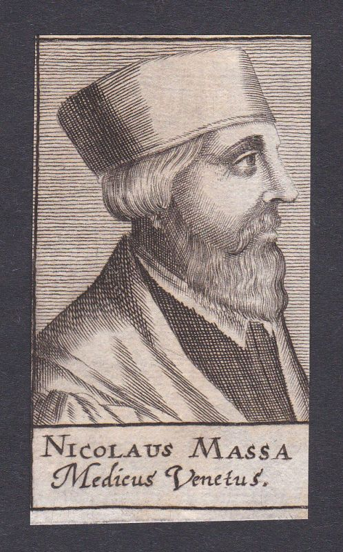 17. Jh. Niccolò Massa / doctor Mediziner Arzt Venedig Portrait Kupferstich