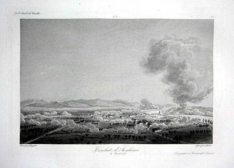 1840 Anghiari Arezzo veduta incisione Ansicht estampe Stahlstich antique print