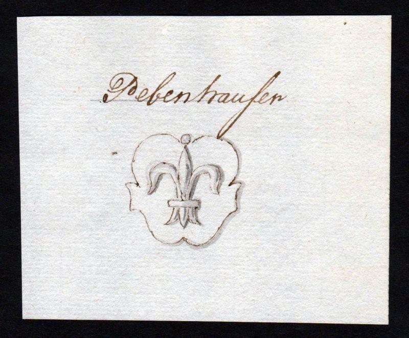 18. Jh. Pebenhauser Bebenhauser Manuskript Wappen manuscript coat of arms 0