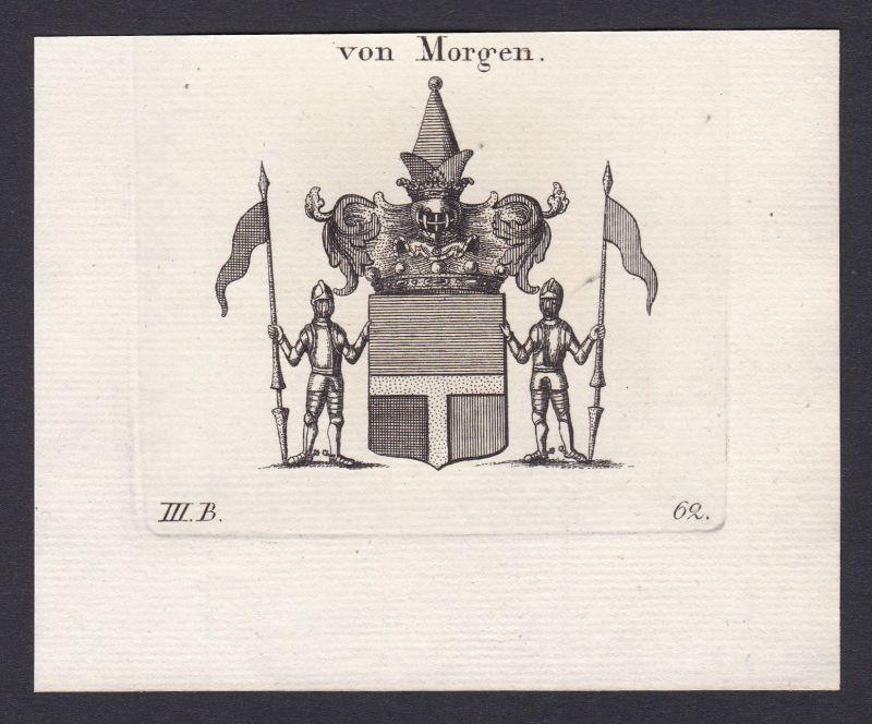 1820 Morgen Wappen Adel coat of arms heraldry Heraldik Kupferstich antique print 0