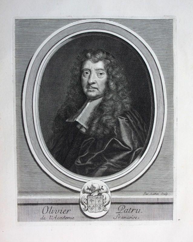 Olivier Patru Jurist avocat lawyer Portrait Kupferstich engraving gravure 1700 0