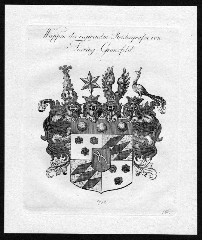 1790 - Toerring Törring Gronsfeld Wappen Adel coat of arms heraldry Heraldik 0