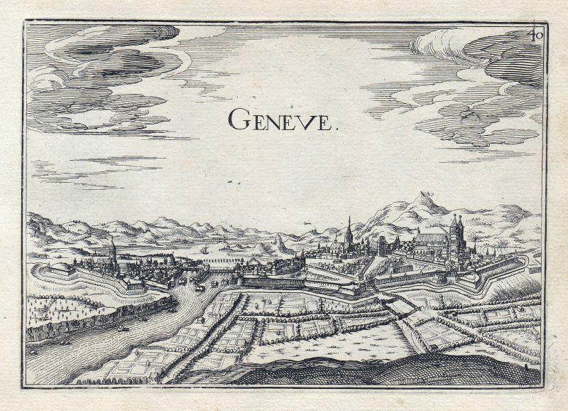 1630 Geneve Genf Schweiz gravure estampe Kupferstich Tassin