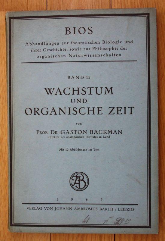 1943 Backman Wachstum und organische Zeit Bios Biologie 0